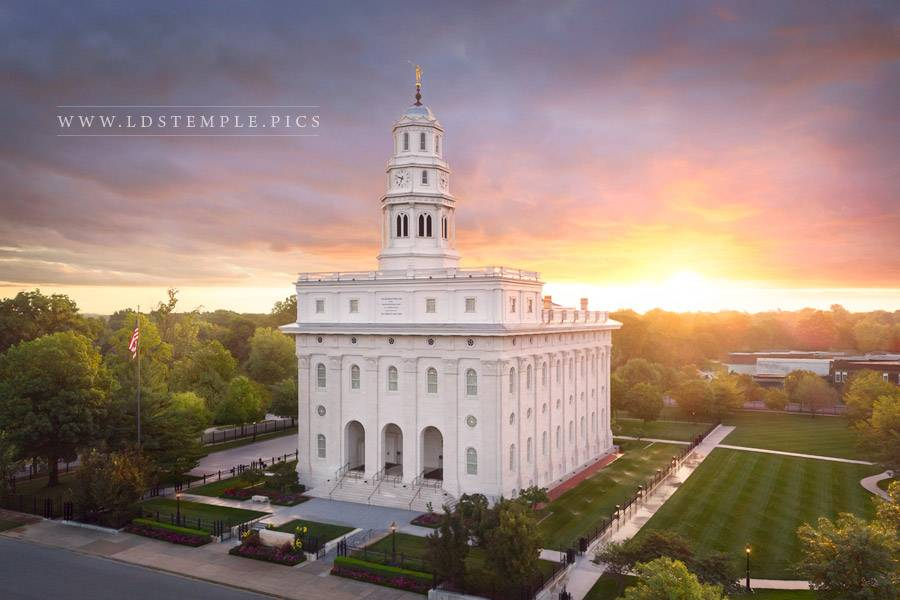 Nauvoo Temple Heavenly Light Print