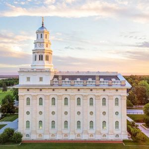 nauvoo-temple-summer-evening-aerial