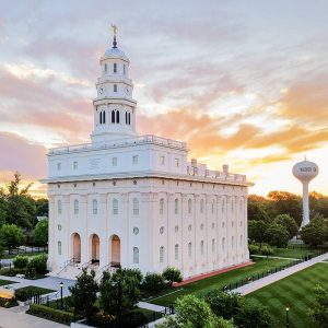 nauvoo-temple-summer-sunset-aerial