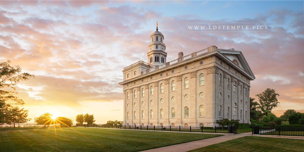 Nauvoo Temple The Day Closes Print