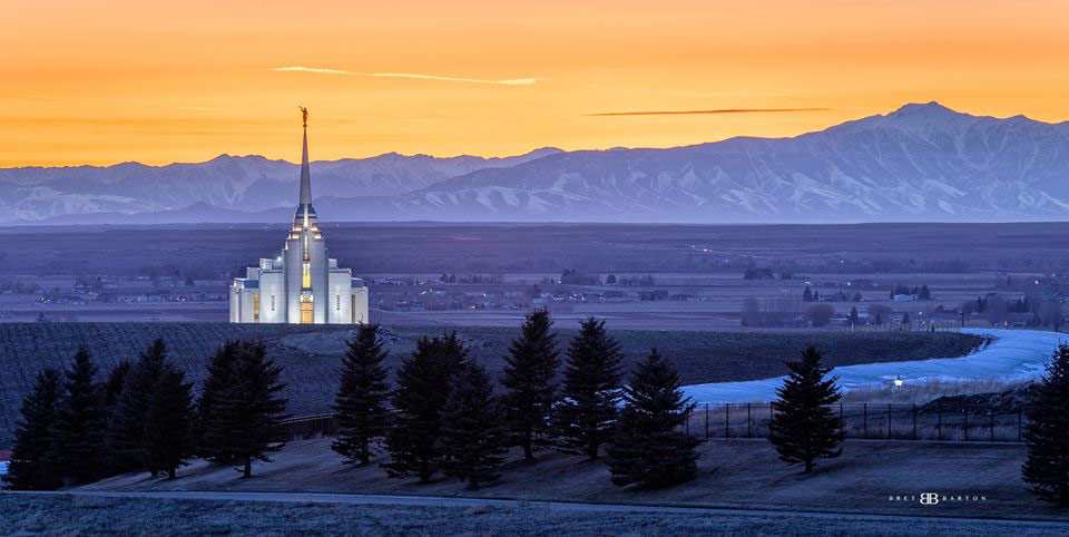 Rexburg Temple by Bret Barton