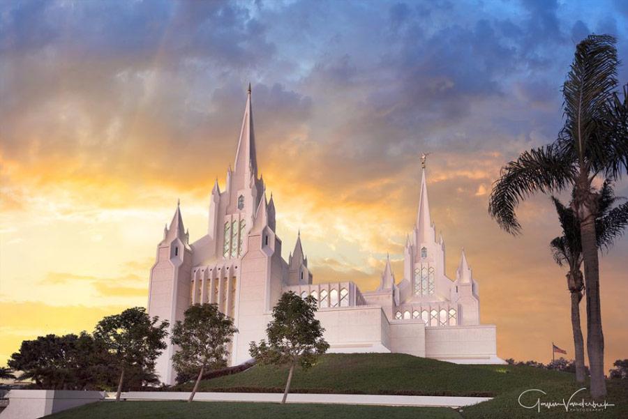 San Diego Temple by Gavin Vanderbeek