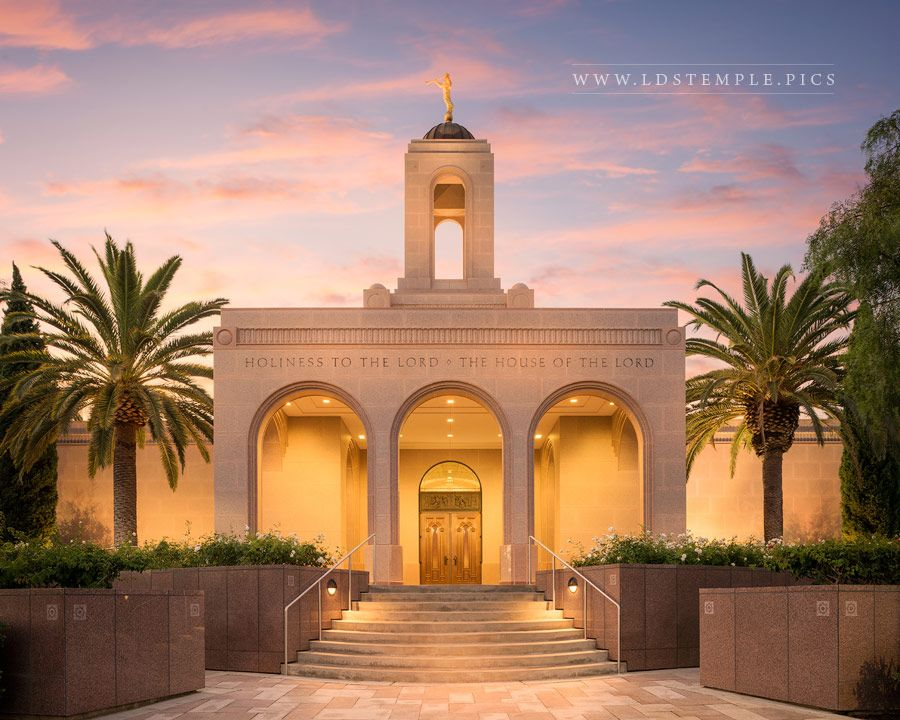 Newport Beach Temple Be Still My Soul Print