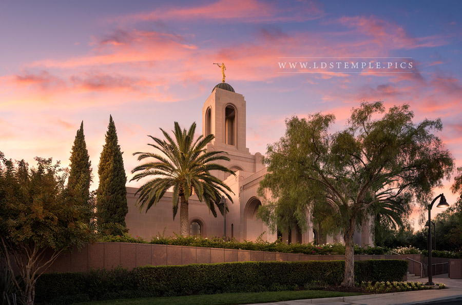 Newport Beach Temple Daybreak Print