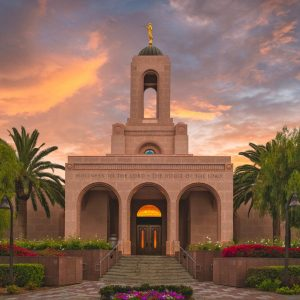 newport-beach-temple-glorious-sunset
