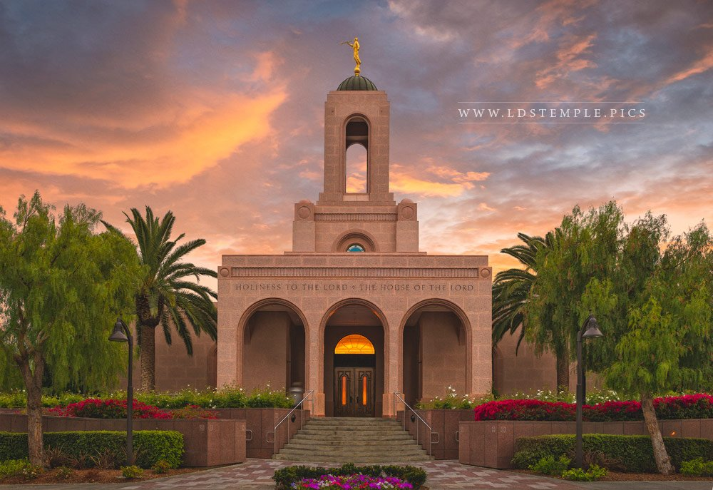 Newport Beach Temple Glorious Sunset Print