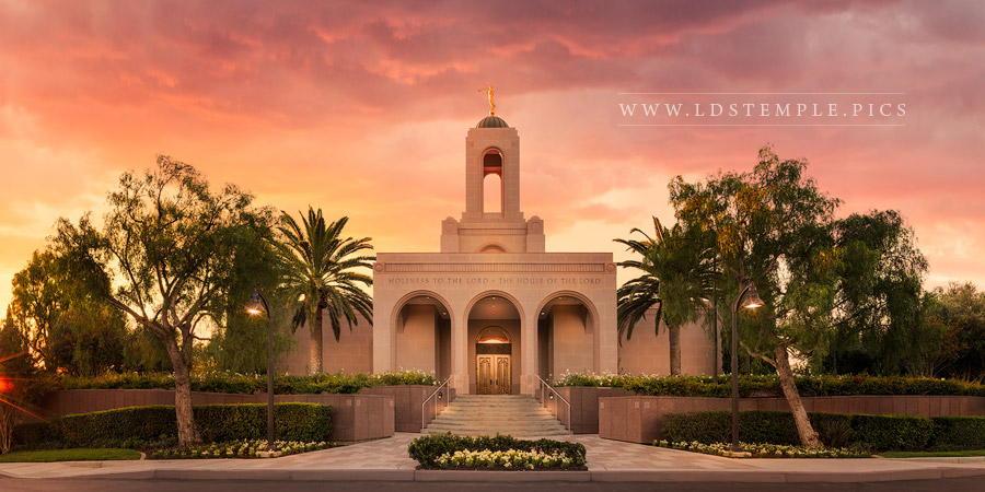 Newport Beach Temple Lift Me Up Print