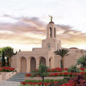 newport-beach-temple-summer-sunrise-painting