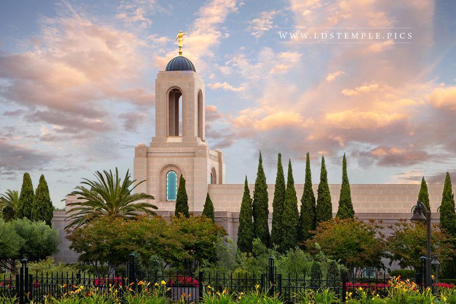 Newport Beach Temple Summer Sunset Print