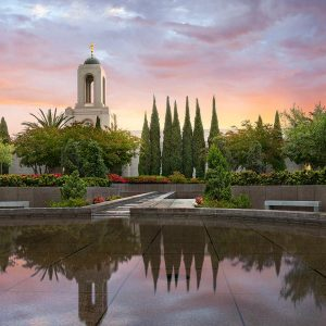 newport-beach-temple-sunrise-reflection