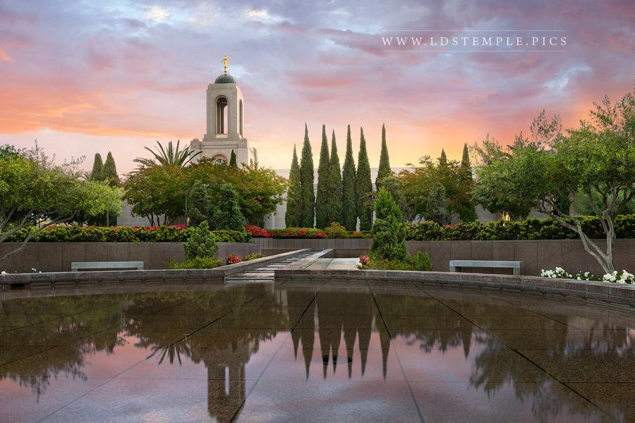 Newport Beach Temple – Sunrise Reflection