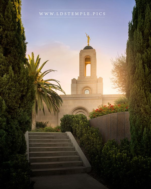 Newport Beach Temple Walk in the Light Print