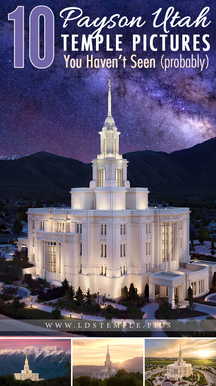 10 More Payson Temple Pictures You Haven't Seen Yet | It's been two years since we showcased the beautiful Payson Temple. Now we have so many more photos of the temple, and we just had to share them with you!