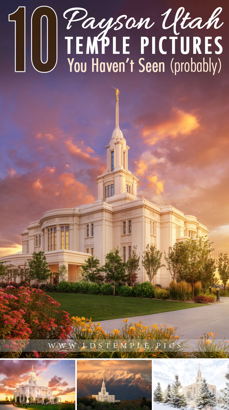 10 Pictures of the Payson Temple You Haven't Seen (probably) | Can you believe the Payson Utah Templewas dedicated three years ago? It's one of our favorites, and here are 10 stunning pictures of it for you to enjoy!