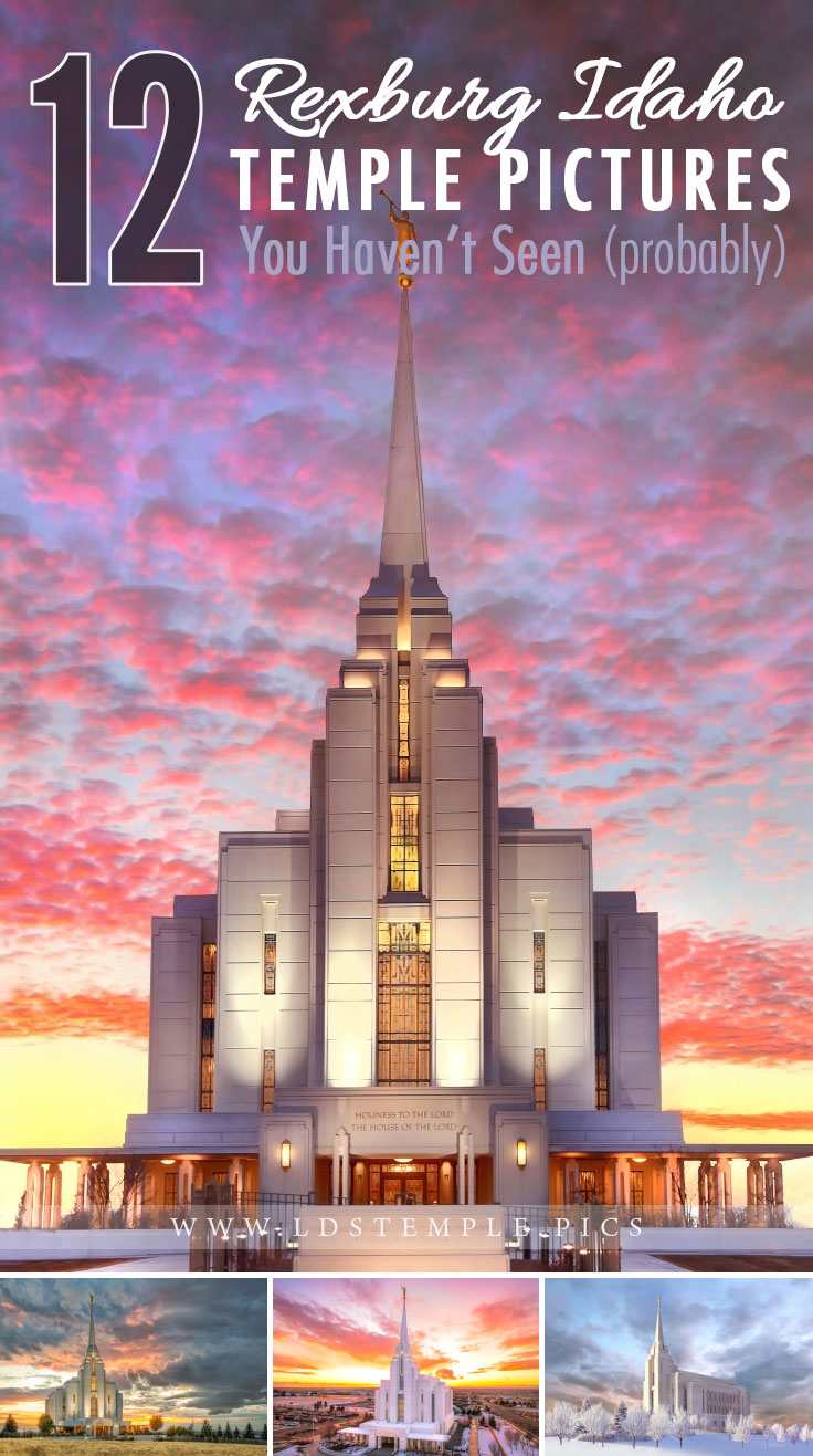12 Amazing Pictures of the Rexburg Temple You Haven't Seen | The Rexburg Idaho Temple is a striking landmark, rising five stories above its hillside location next to the BYU–Idaho campus. Here are 12 pictures you haven't seen.