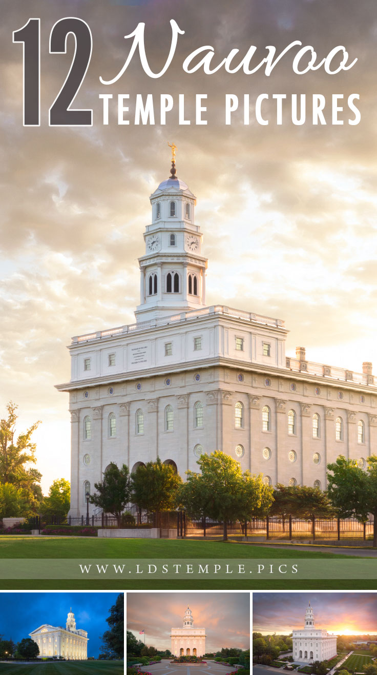12 Beautiful New Pictures of the Nauvoo Temple | The historic Nauvoo Illinois Temple is one of the most well-known temples in the world. Here are 12 new pictures of the beautiful temple!