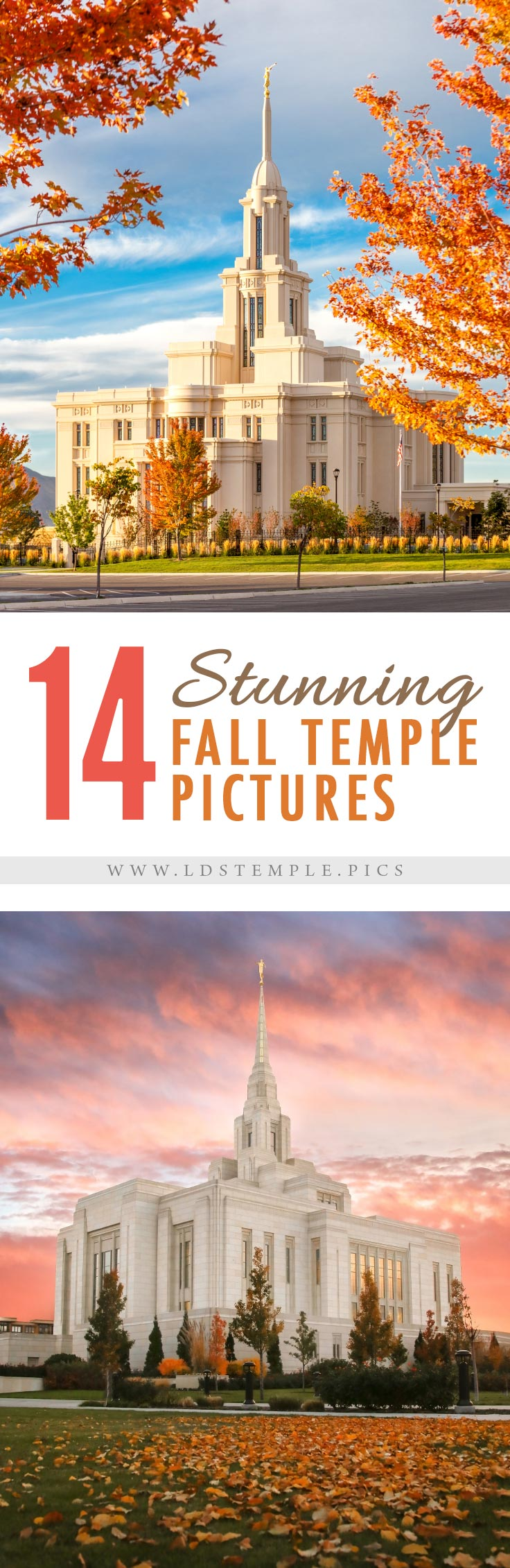 14 Fantastic Fall Temple Pictures) | As this wonderful fall season draws to a close before winter arrives, we wanted to share this amazing collection of fall temple pictures with you!