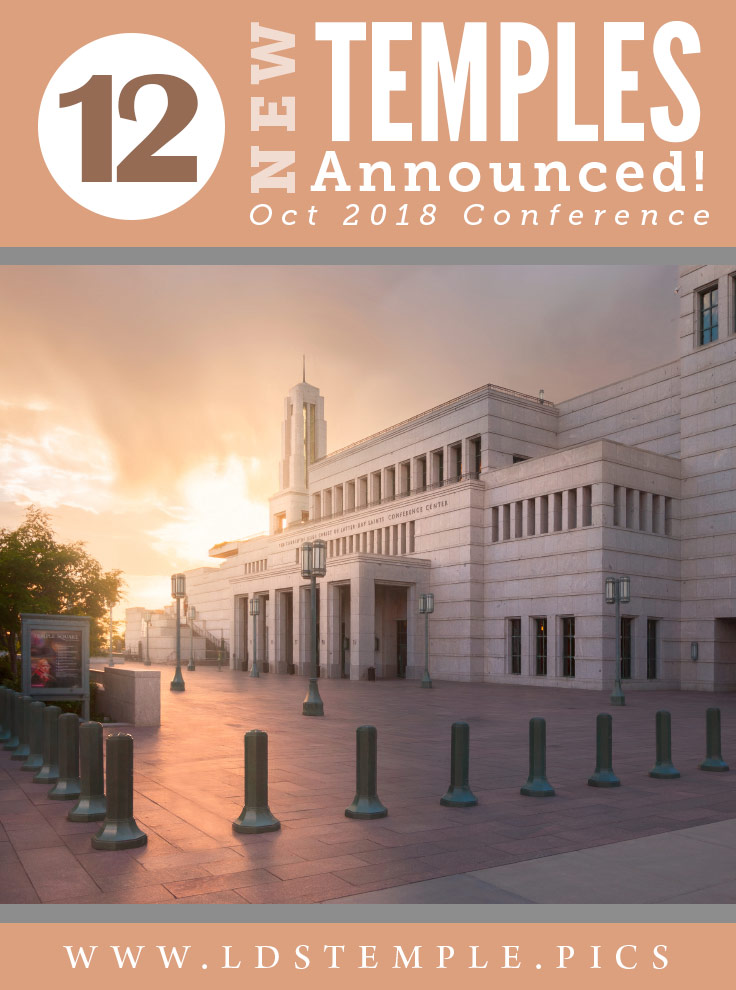 7 New Temples Announced, Including the Layton Utah Temple | President Nelson announced plans to build 12 new temples, located in Argentina, Brazil, California, Cambodia, Cape Verde, Guam, Mexico, New Zealand, Nigeria, Philippines, Puerto Rico, and Utah.