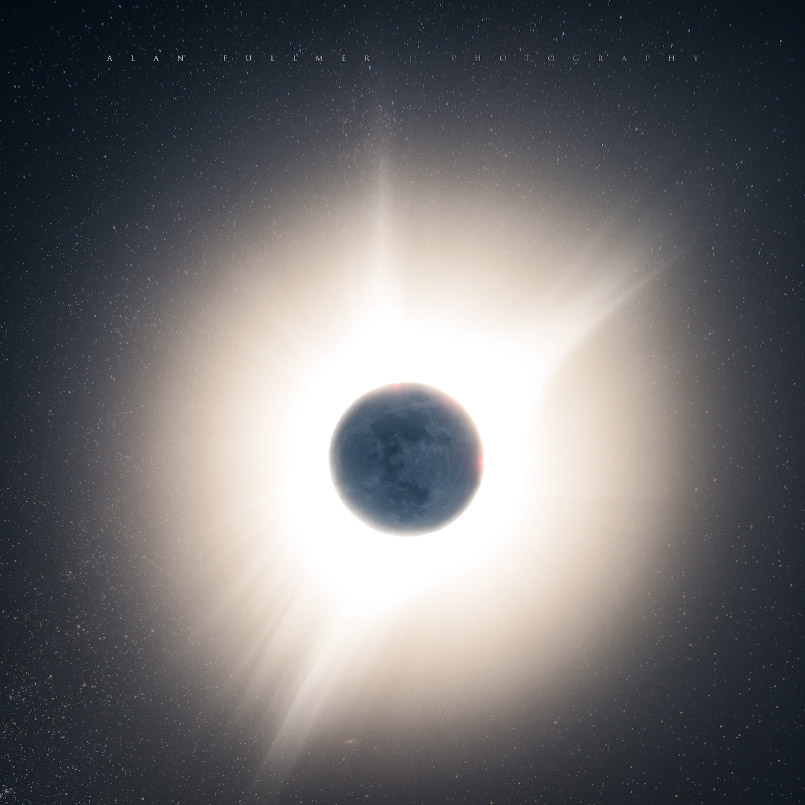 Details of the Moon in Front of the Sun During the Total Eclipse