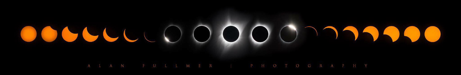 The Phases of the Sun During the Total Eclipse