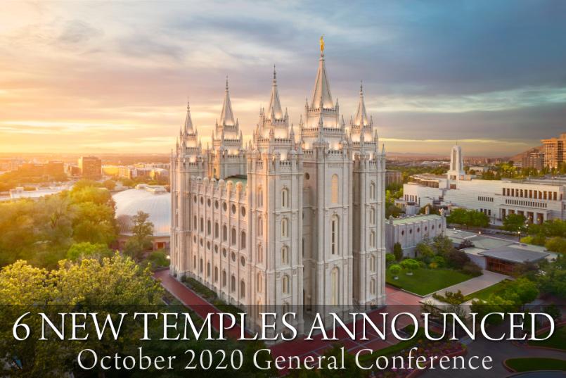 6 New Temples Announced in Oct 2020 General Conference | Temples will be built in Tarawa, Kiribati; Port Vila, Vanuatu; Lindon, Utah; Greater Guatemala City, Guatemala; São PauloEast, Brazil; Santa Cruz, Bolivia.