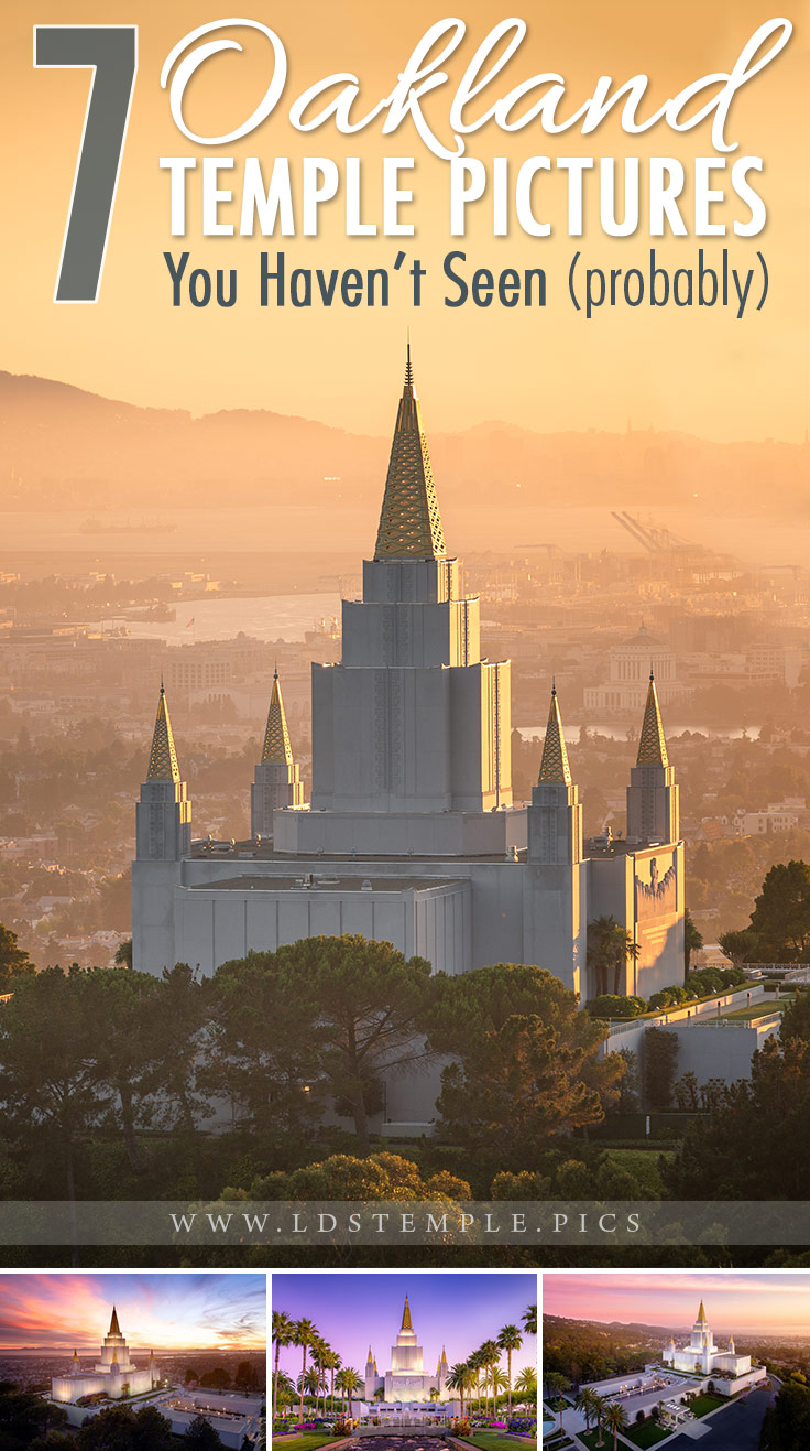 7 Pictures of the Oakland Temple You Haven't Seen (probably) | The golden spires of the Oakland California Temple are a landmark sight in the East Bay area of Oakland, California. Here are 7 pics of it you haven't seen!