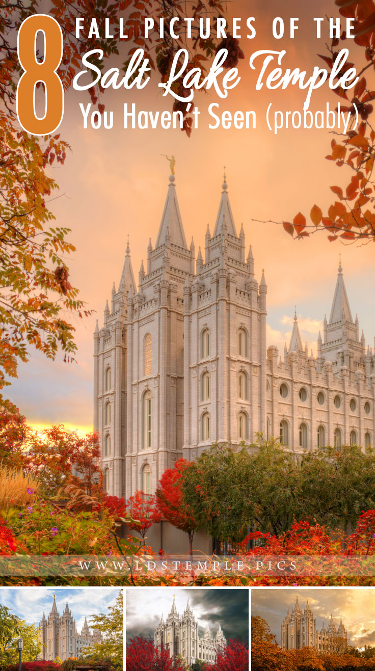 8 Autumn Pictures of the Salt Lake Temple You Haven't Seen Yet | The beautiful Salt Lake Temple closes for major renovations in a little over a month, so we wanted to share 8 fall pictures of the temple with you!