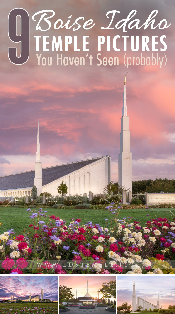 9 Pictures of the Boise Temple You Probably Haven't Seen | The Boise Idaho Temple is a unique landmark that can't be missed by travelers. Here are nine beautiful pictures of the temple that you may not have seen yet.