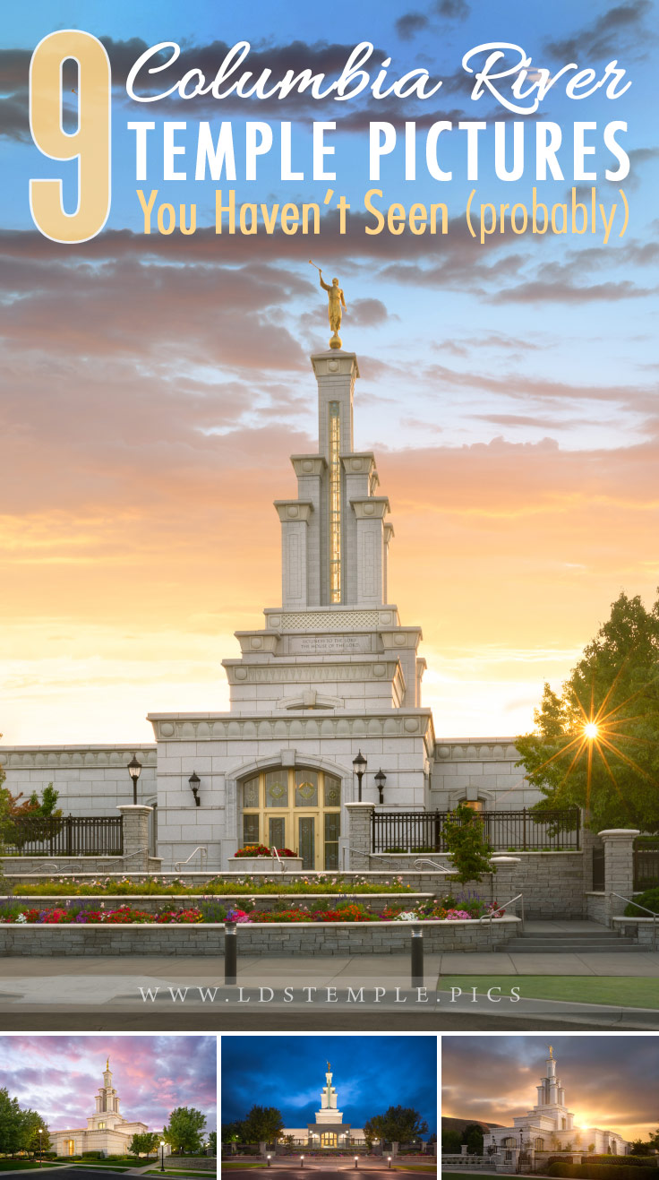 9 Pictures of the Columbia River Temple You Haven't Seen Yet | The beautiful Columbia River Washington Temple is located in the Richland area. Here are 9 amazing pictures of the temple that you may not have seen yet.