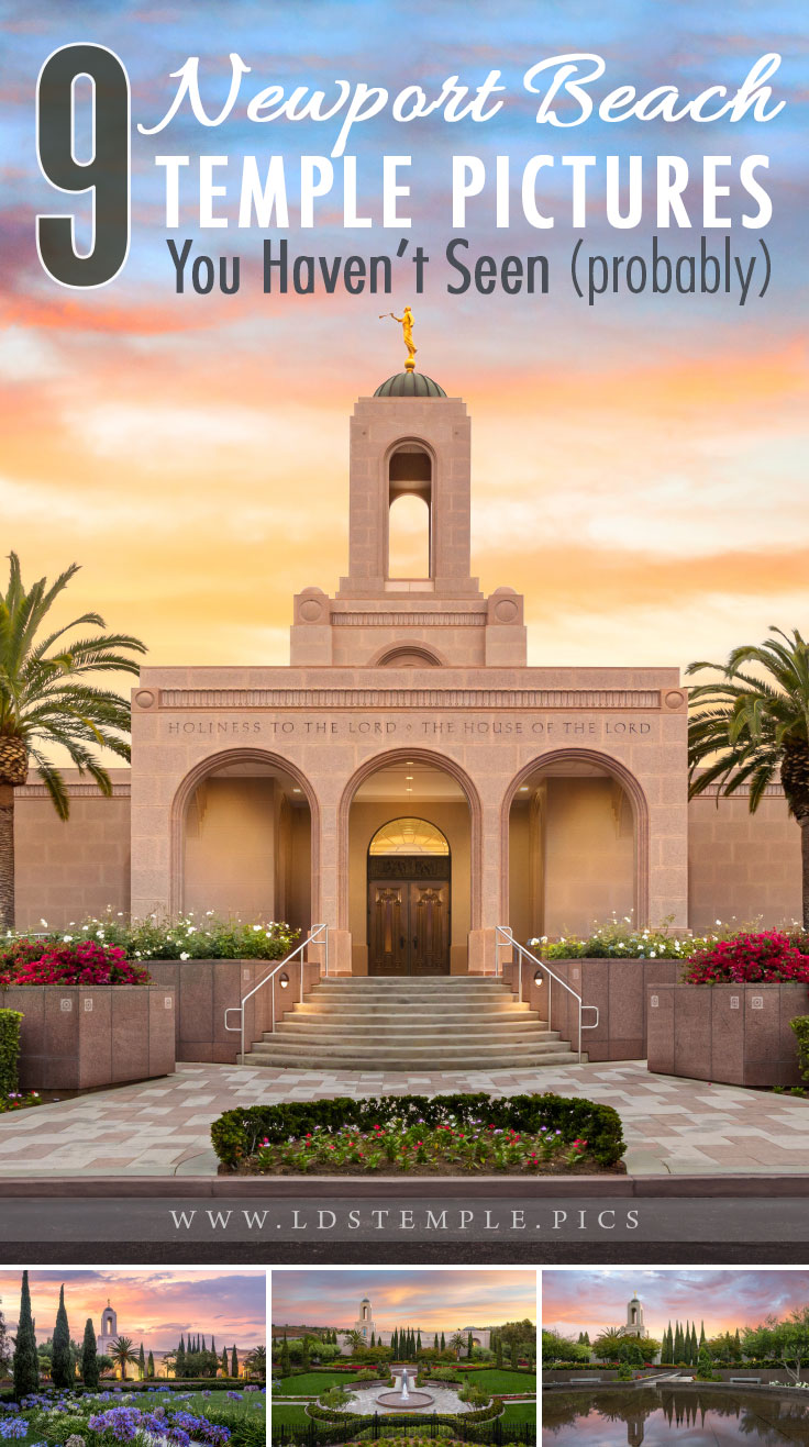 9 Pictures of the Newport Beach Temple You Haven't Seen (Probably) | The Newport Beach California Temple has some of the most beautiful grounds we've seen. Here are 9 pictures of the it that you haven't seen yet.