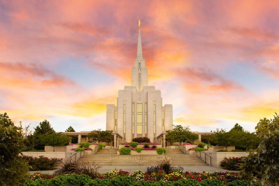 Oquirrh Mountain Temple by Jason Miller