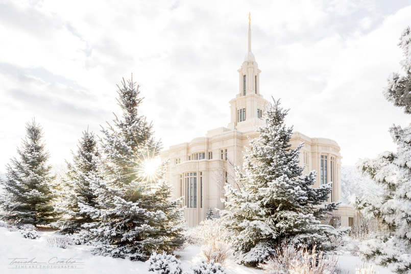 10 Beautiful Winter Pictures of LDS Temples – LDS Temple Pics
