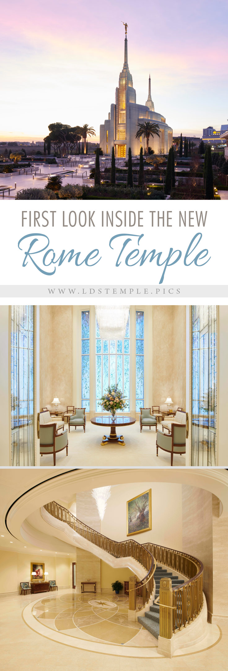 Pictures Inside the Beautiful New Rome Italy Temple | Now that the new Rome Italy Temple is finished, the Church has released pictures of the interior, and the temple is stunning, exquisite and magnificent!