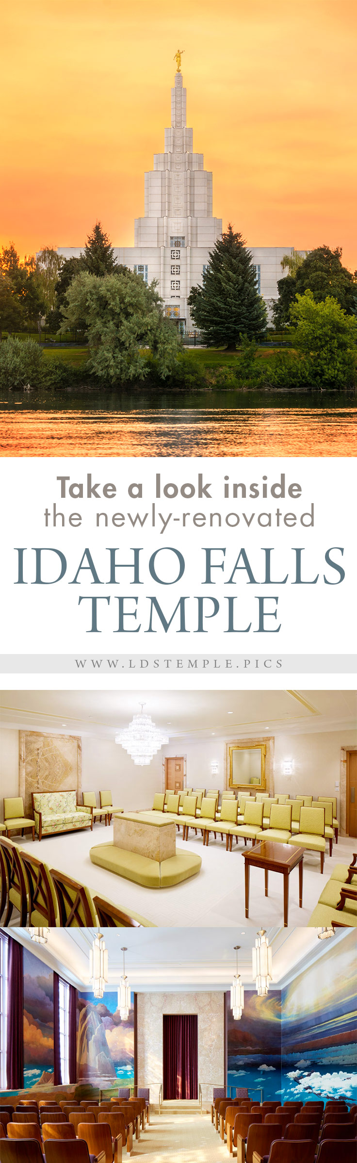 Take a Look Inside the Newly-Renovated Idaho Falls Temple | After two years, the Idaho Falls Temple has finished renovations and will soon begin the open house and be re-dedicated. Here are some beautiful photos of the finished interior!