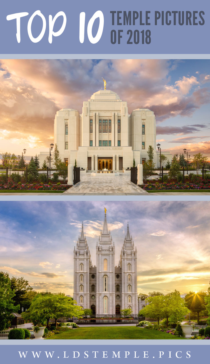 The Top 10 Latter-day Saint Temple Pictures of 2018 | Let's take some time to look back at the photos that brought the Spirit into our lives. These are our 10 most popular LDS temple pictures from 2018!