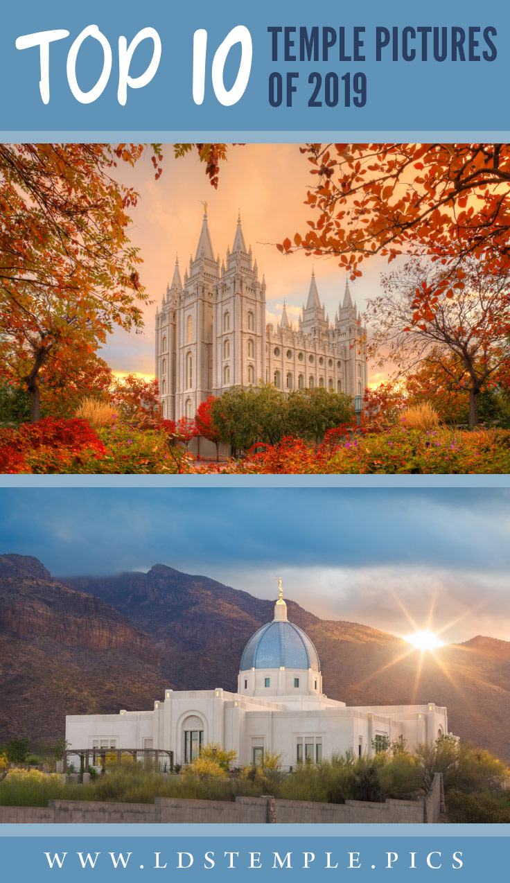 The Top 10 Latter-day Saint Temple Pictures of 2019 | Spend a few moments with us to look back on the photos that brought the Spirit into our lives. These are our 10 most popular LDS temple pictures from 2019!