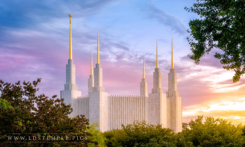 The Washington DC Temple by Alan Fullmer