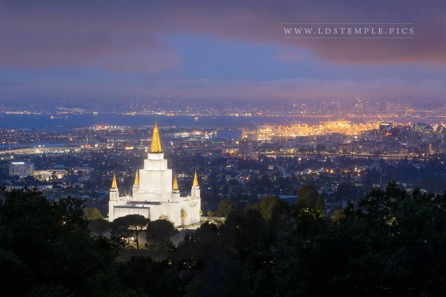 Oakland Temple City Lights Print