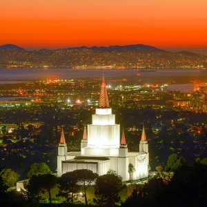 oakland-temple-crimson-sunset