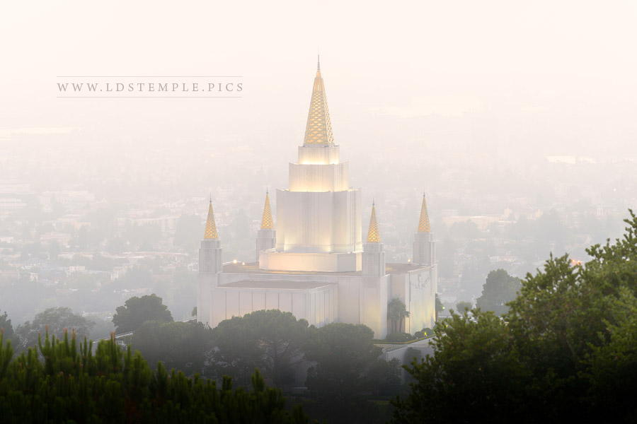 Oakland Temple – Foggy Morning