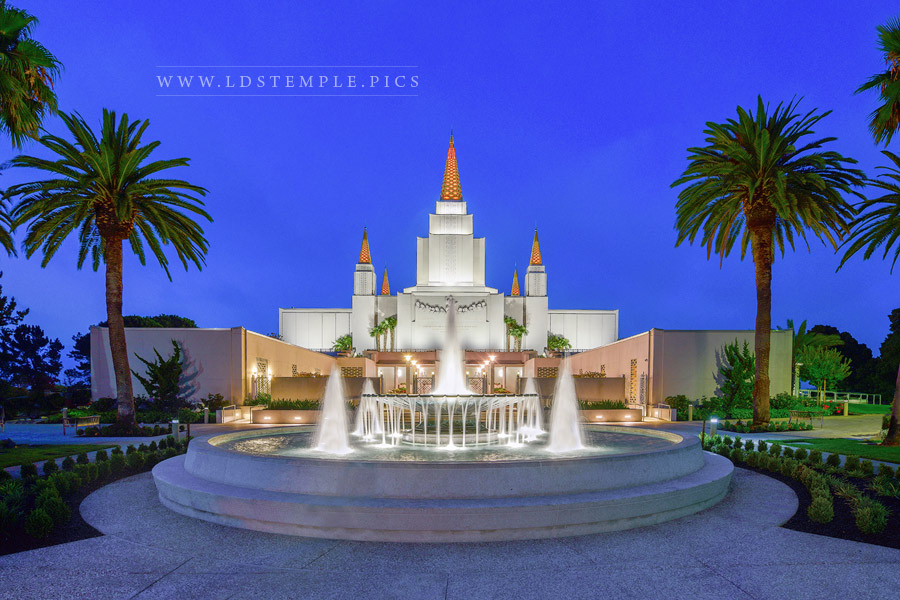 Oakland Temple Fountain Print
