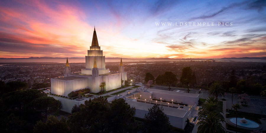 Oakland Temple From On High