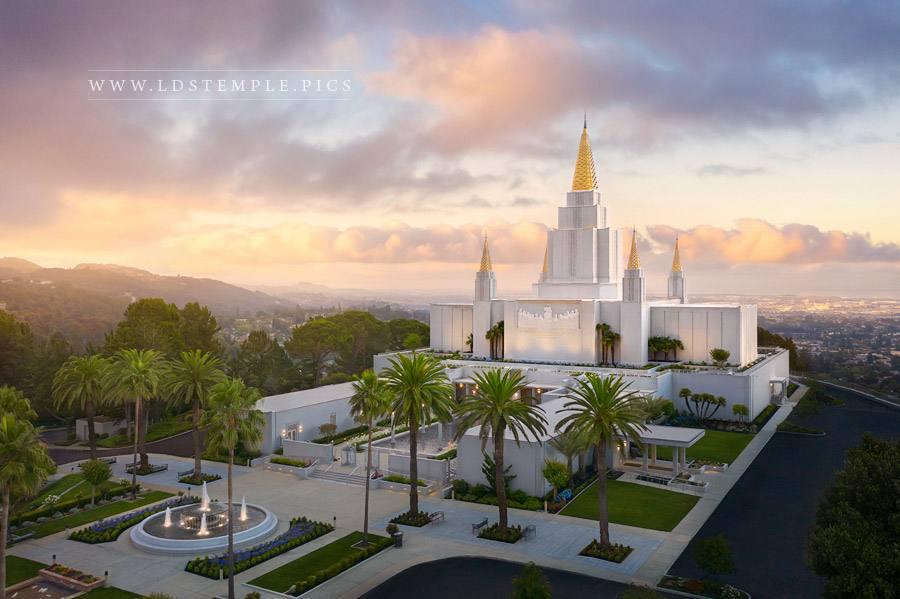 Oakland Temple Heavenly Light Print