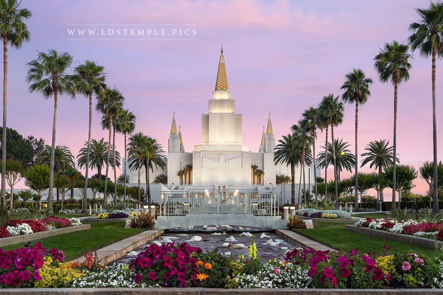 Oakland Temple Pastel Sunset Print