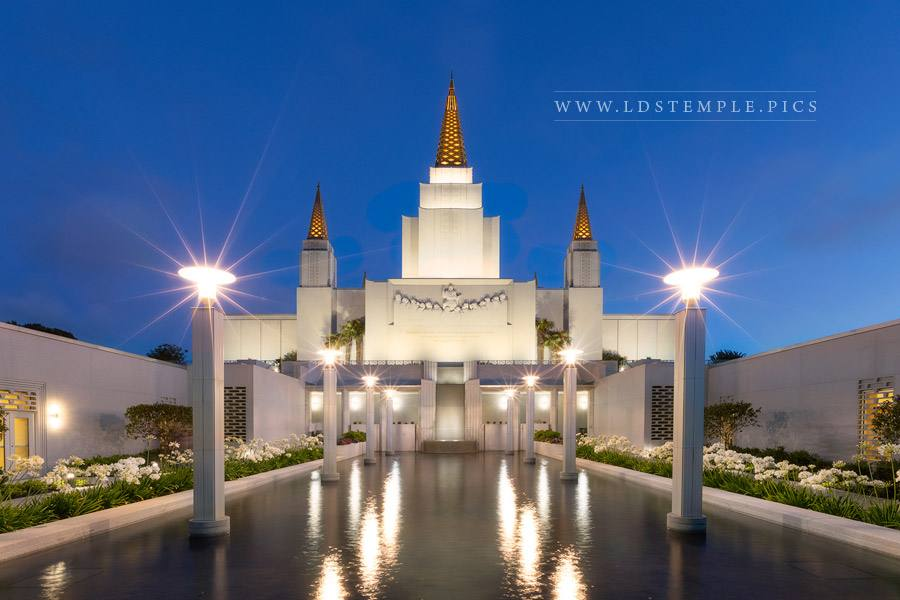 Oakland Temple Reflecting Pool Print