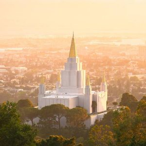 oakland-temple-summer-sunset