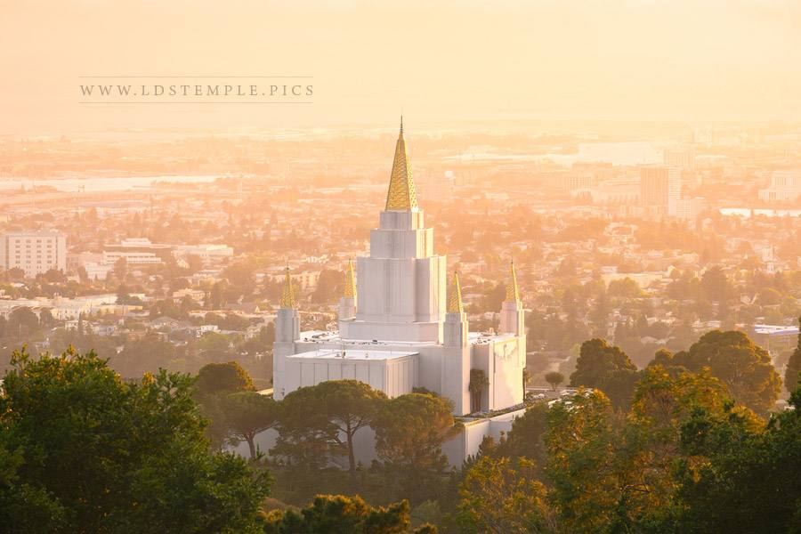 Oakland Temple Summer Sunset Print