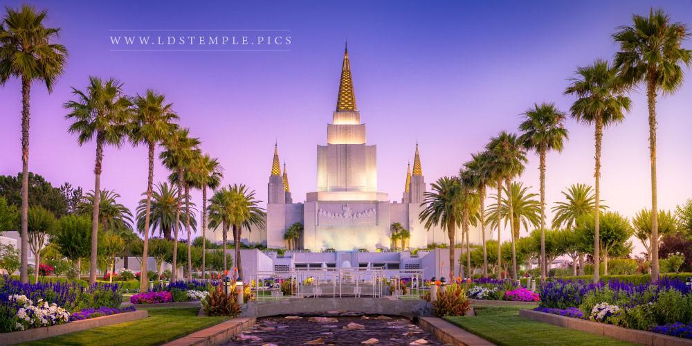 Oakland Temple – Summer Sunset