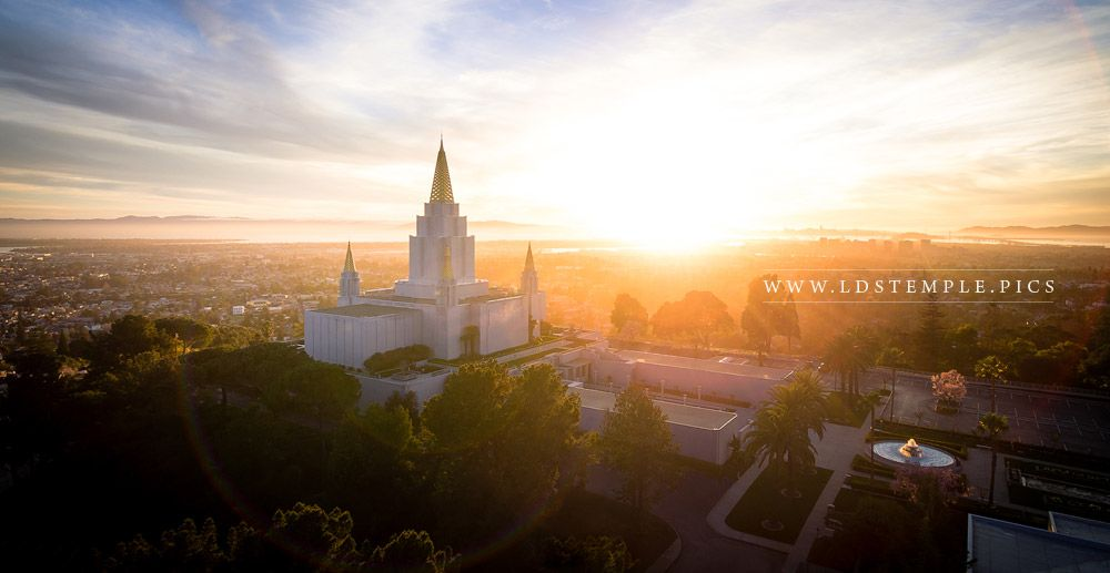 Oakland Temple – Sunburst From On High