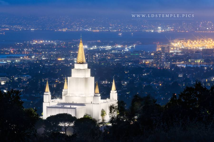 Oakland Temple – Twilight Over The Bay